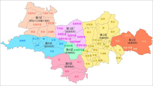 選挙区と総代・役員の定数